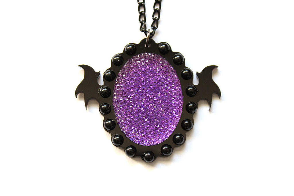 Sparkle Purple Monster Soul Necklace