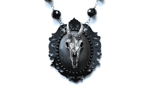 Goat Skull Dark Fairytale Necklace