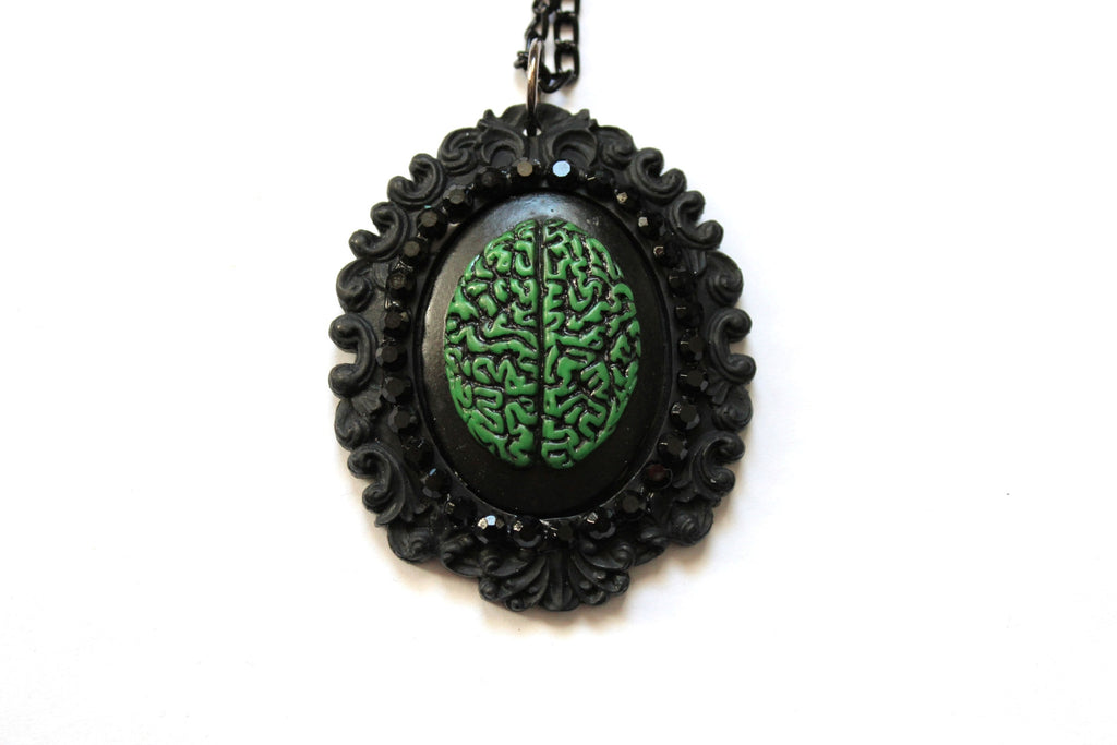 Brain Cameo Baroque Necklace - More Colors Available