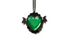 Green Monster Heart Necklace