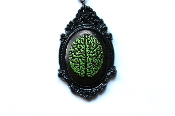 Brain Cameo Necklace - More Colors Available