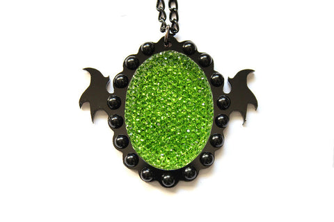Sparkle Green Monster Soul Necklace