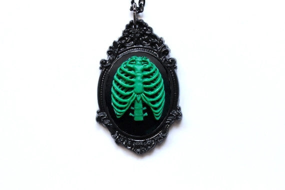 Anatomical Rib Cage Necklace - More Colors Available