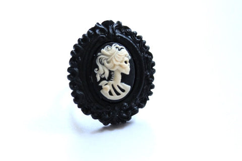 Day of the Dead Skeleton Girl Extra Mini Ring