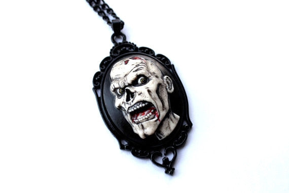 Zombie Cameo Necklace