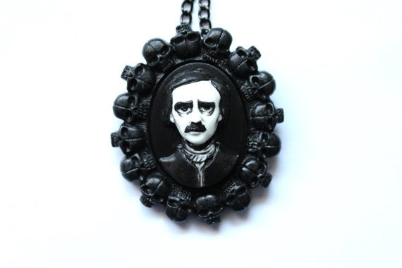 Edgar Allan Poe 'Bed of Skulls' Cameo Necklace