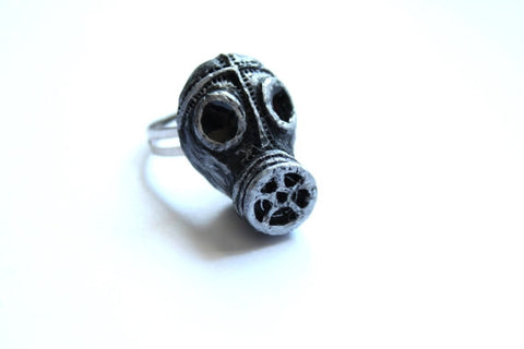 World War II Gas Mask Ring