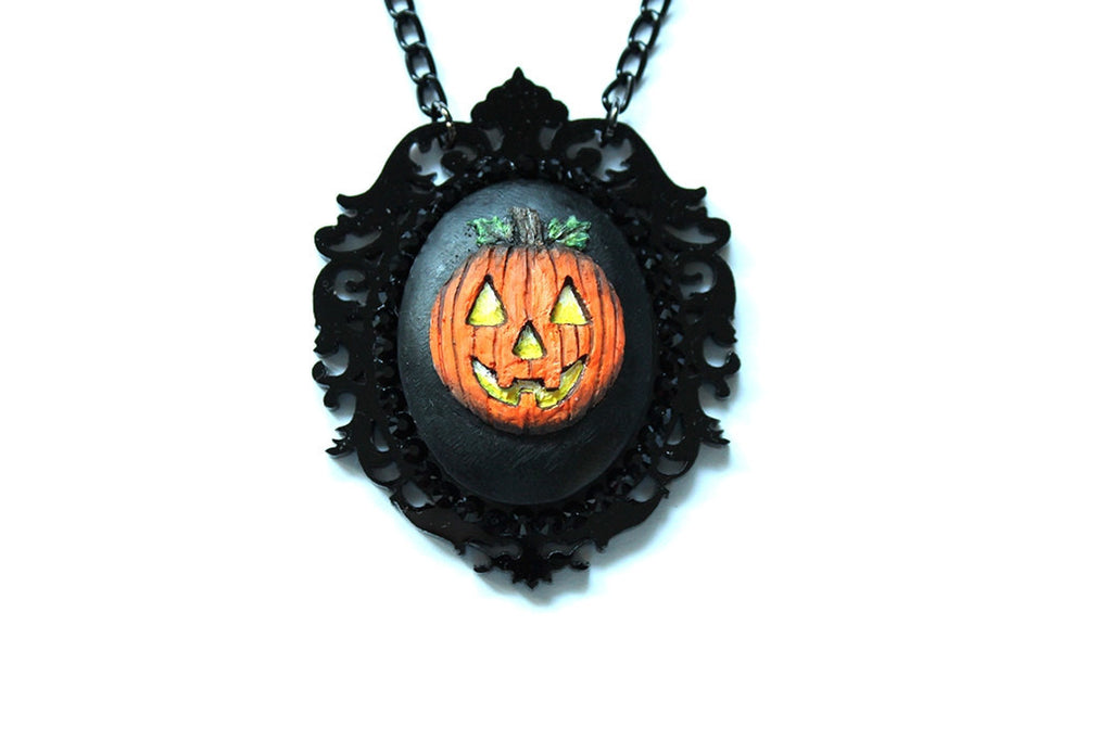 Jack O' Lantern Dark Fairytale Necklace