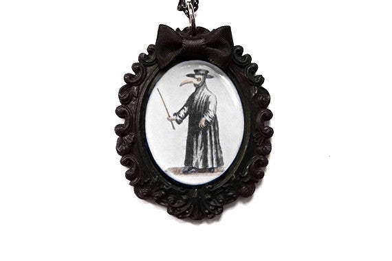 Plague Doctor Baroque Cameo Necklace
