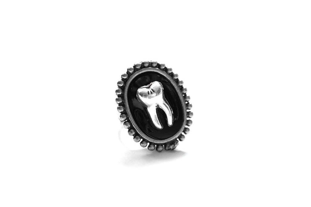 Silver Tooth Extra Mini Ring