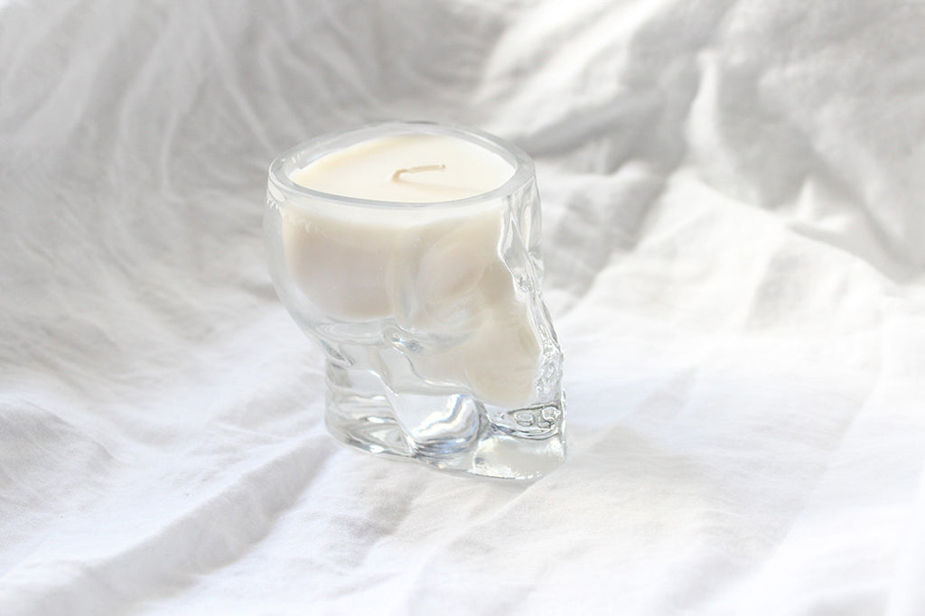 Skull Glass Deep Sea Pearl Soy Candle