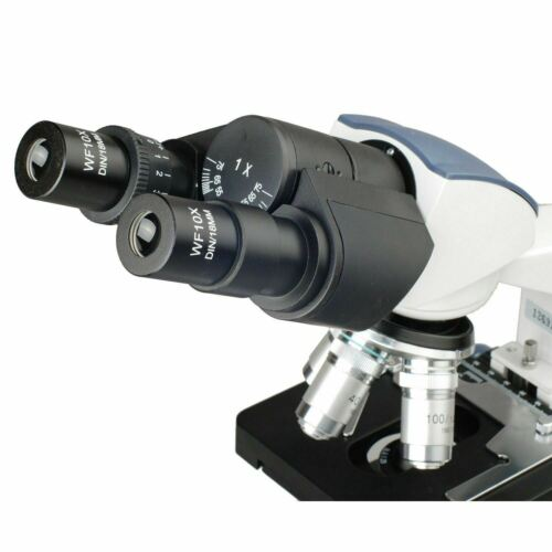 AmScope 40X-2500X LED Lab Binocular Compound Microscope with 10MP Camera