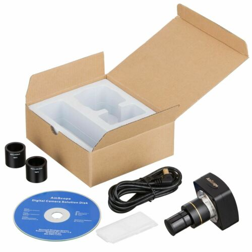 10MP USB Microscope Digital Camera for Video + Stills + Calibration Kit
