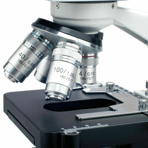 AmScope 40X-2500X LED Lab Binocular Compound Microscope with 1.3MP Camera