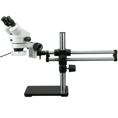 AmScope 3.5X-90X Binocular Stereo Microscope + 144 LED + Ball Bearing Stand