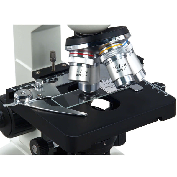 OMAX 40X-2500X LED LAB TRINOCULAR COMPOUND MICROSCOPE WITH DOUBLE LAYER MECHANICAL STAGE