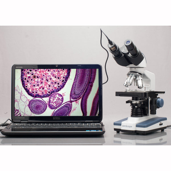 5MP USB 2.0 Color CMOS Digital Eyepiece Microscope Camera with Calibration Slide