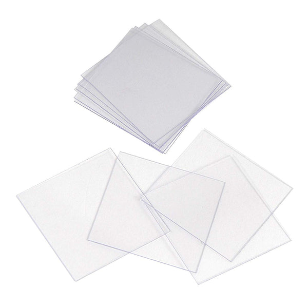 100pc Pre-Cleaned 22mm x 22mm Square Microscope Glass Cover Slides Coverslips