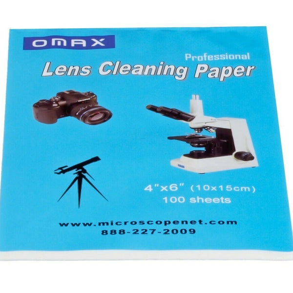MICROSCOPE & CAMERA LENS OPTICAL CLEANING PAPER BOOKLET 100 SHEETS