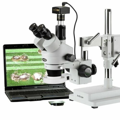 3.5X-90X Trinocular Zoom Stereo Microscope + 3MP Camera + LED Ring Light
