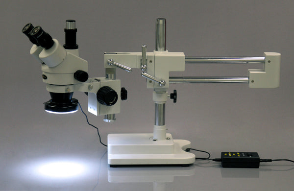 144 LED Four-Zone Microscope Ring Light with Adapter