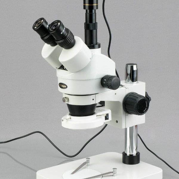 7X-45X Dissecting Circuit 144-LED Zoom Stereo Microscope + 1.3MP Digital Camera