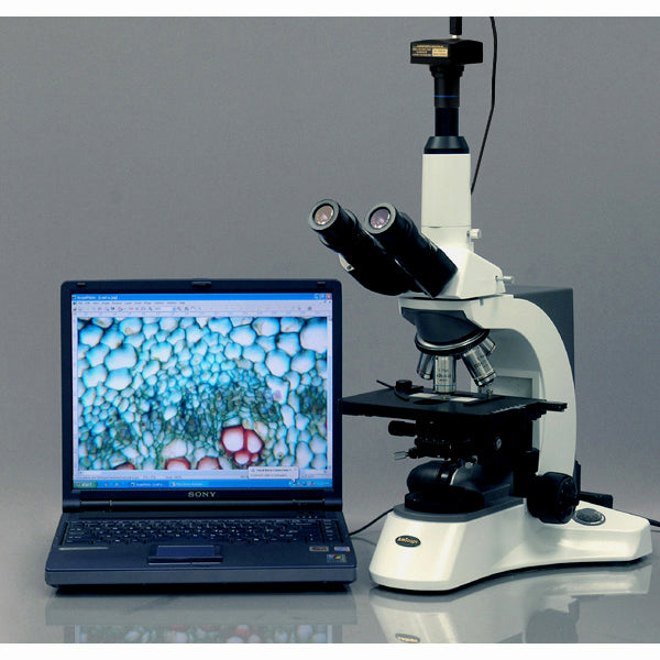 9MP USB 2.0 Color CMOS C-Mount Microscope Camera with Reduction Lens and Calibration Slide