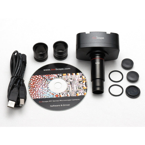3.5X-90X Circuit Zoom Stereo Microscope + 144 LED Light + 5MP Digital Camera
