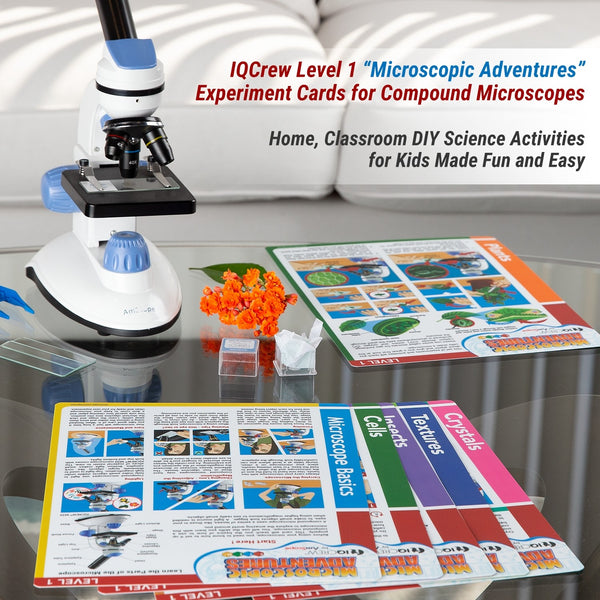 Compound Microscope Experiment Cards for Kids Fun and Educational Microscope Experiments (Level 1)