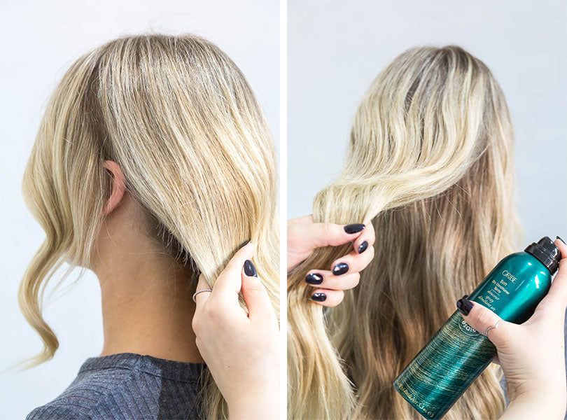 Brush The Waves Out To Create A Smooth Bend In Hair Divide Into Three Sections Grab Two Front From Either Side Of Head