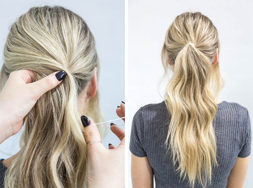 Loosely Begin To Position Your Ponytail By Grabbing The Hair From Back Section Can Be As High Or Low You Like
