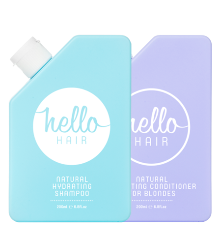 Hello Hair Natural Hydrating Shampoo + Conditioner Mixed Duo