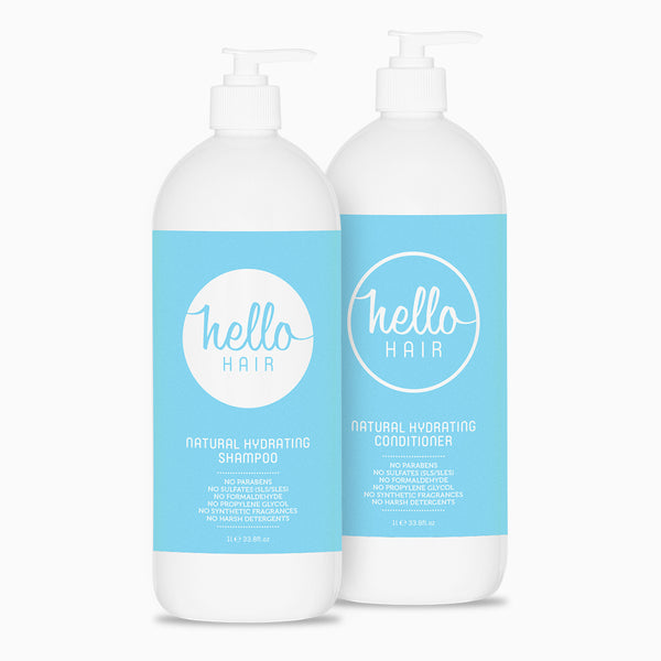 Hello Hair Hydrating Shampoo + Conditioner 1L Duo