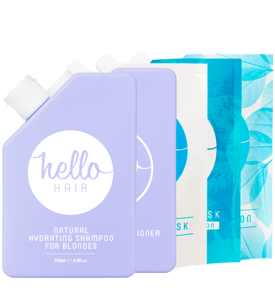 HELLO HAIR 'HYDRATE YOUR HAIR FOR BLONDES' PACK | LOW STOCK