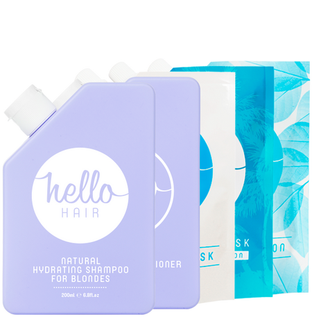 HELLO HAIR 'HYDRATE YOUR HAIR FOR BLONDES' PACK | OUT OF STOCK
