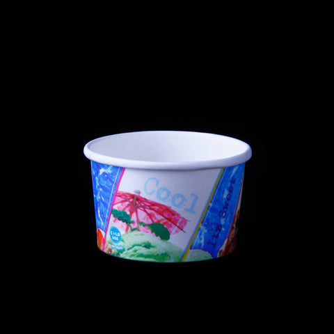 120ml PAPER ICE CREAM CUP. 25 Pieces