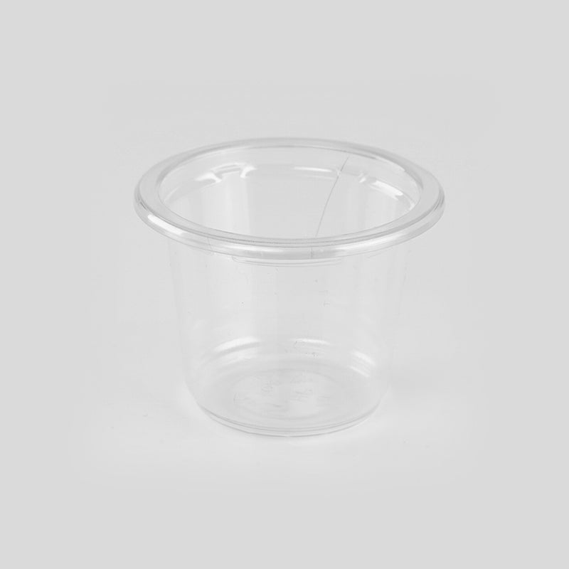 1 Oz PET Clear Portion Cup 44 Mm Diameter with Clear LID (100 Pieces)