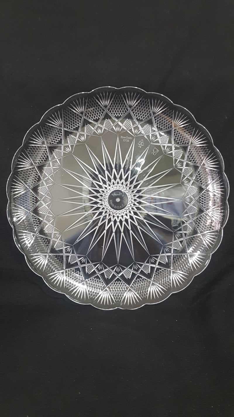 Crystal plate round 33cm (price per piece)