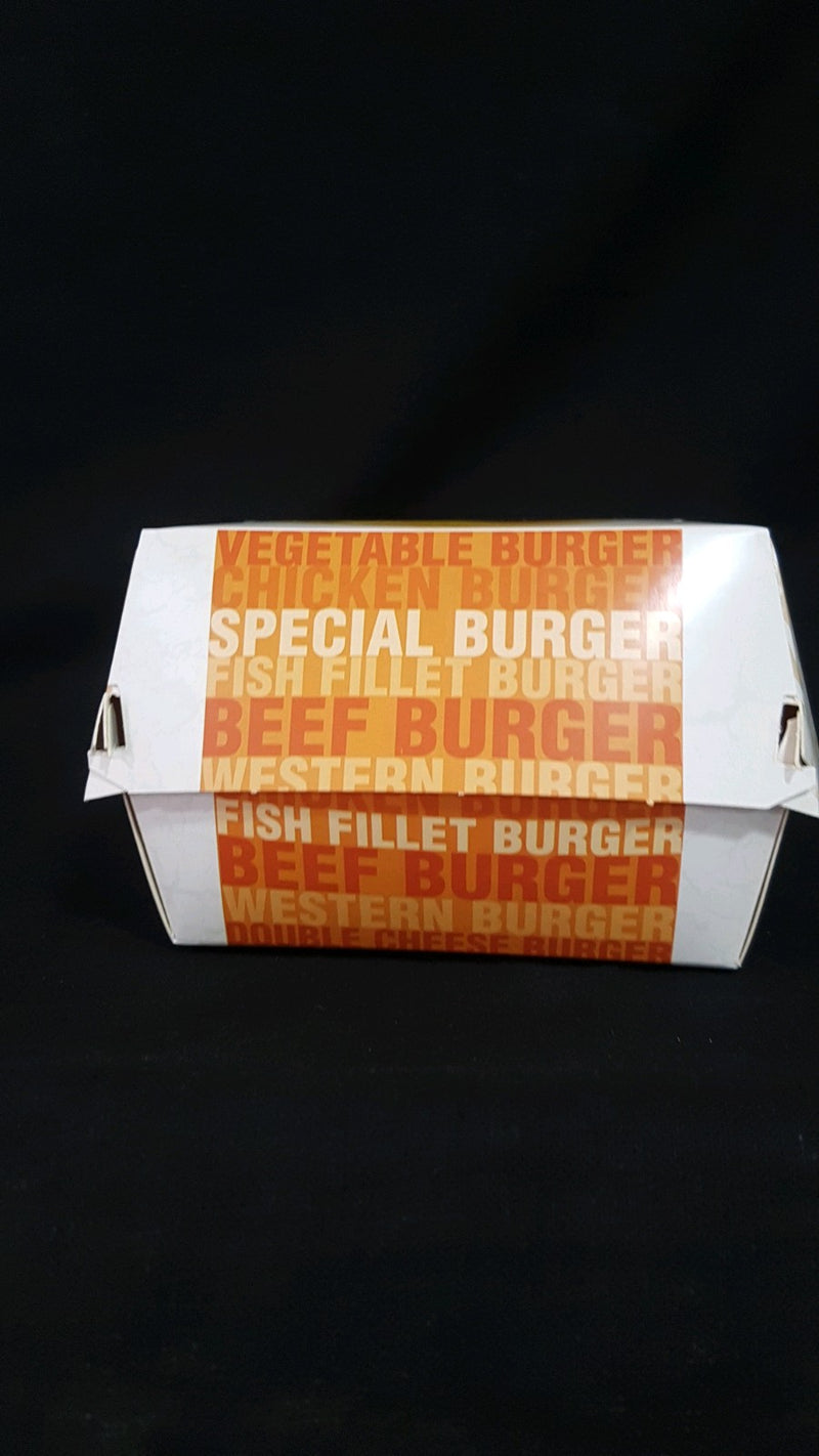 Paper printed burger box large (price per piece)