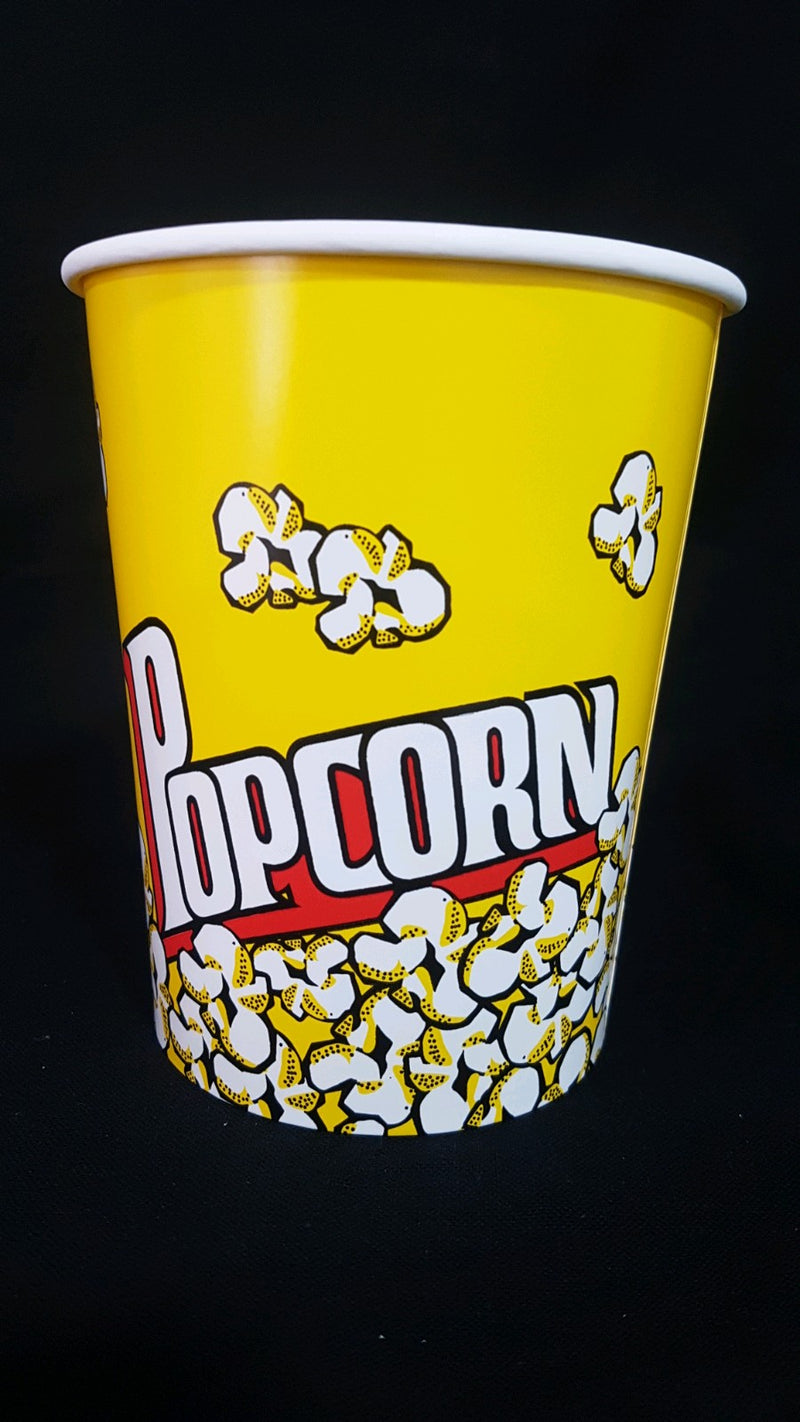 Popcorn tubs (yellow round) 46oz (price per piece)