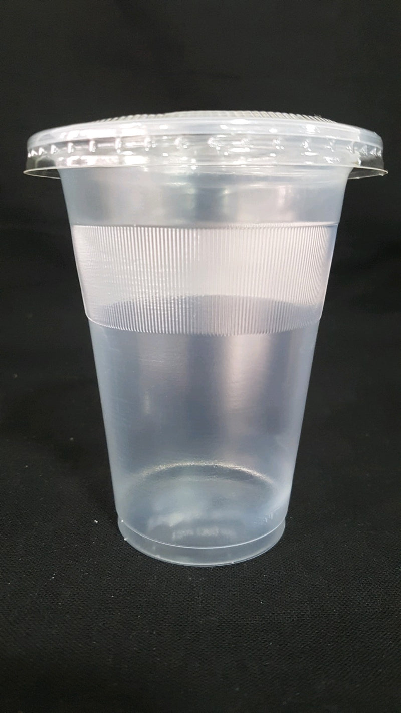 Plastic pp clear cups 12oz  (50 pieces per packet)