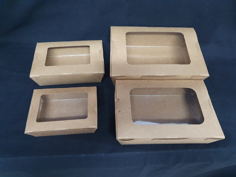 Kraft Sweet Box / Lunch Box with Window
