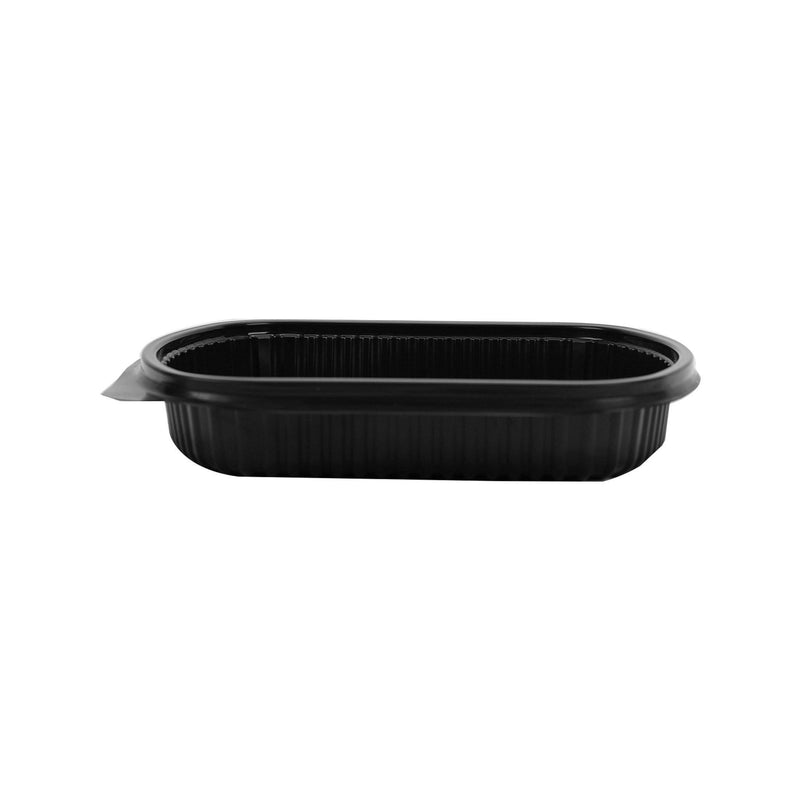 Black Base Rectangular 1-Compartment Container Base Plus LID
