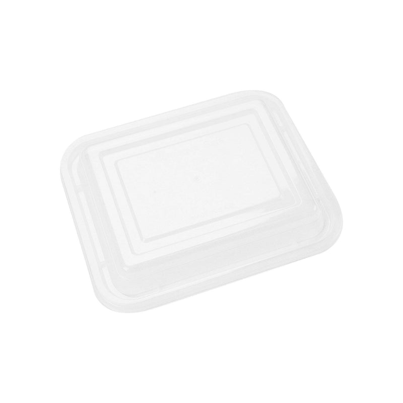 Black Base Rectangular Container 12 oz with LID