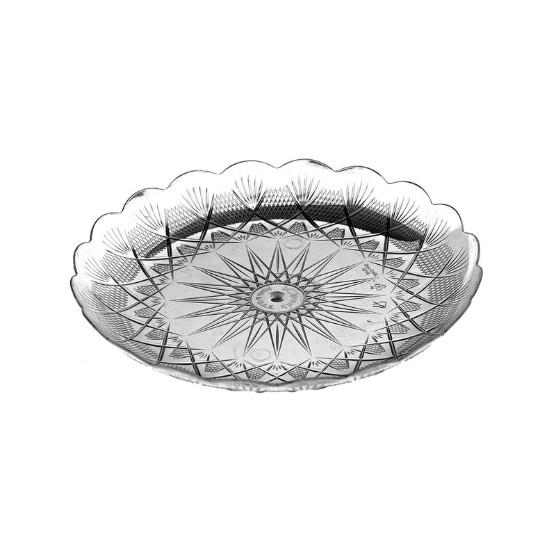 Crystal plate round 36cm (price per piece)
