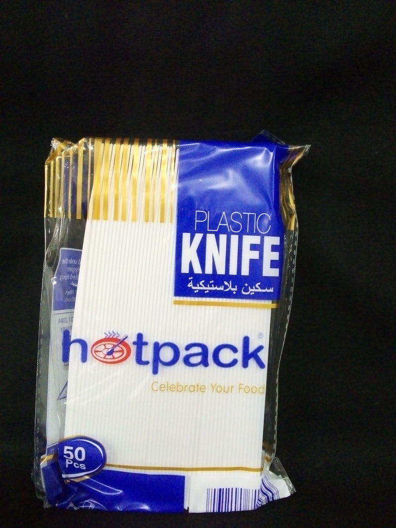 Hotpack Plastic DisposableKnife (50 pieces per packet)