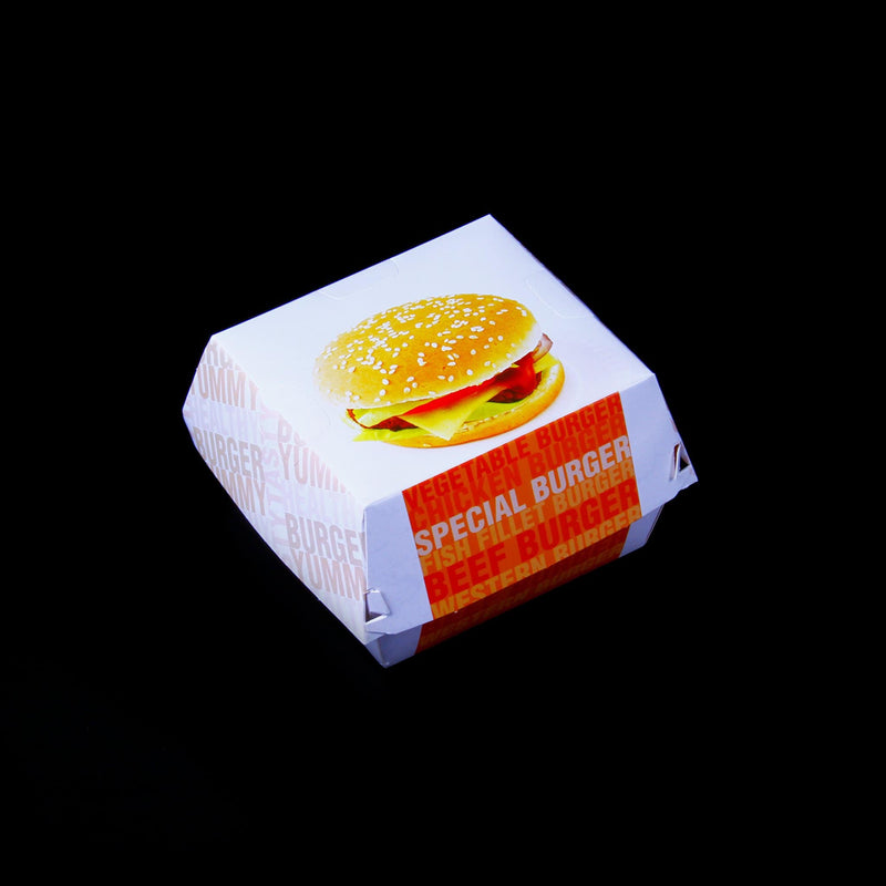 Paper Printed Burger Box Large