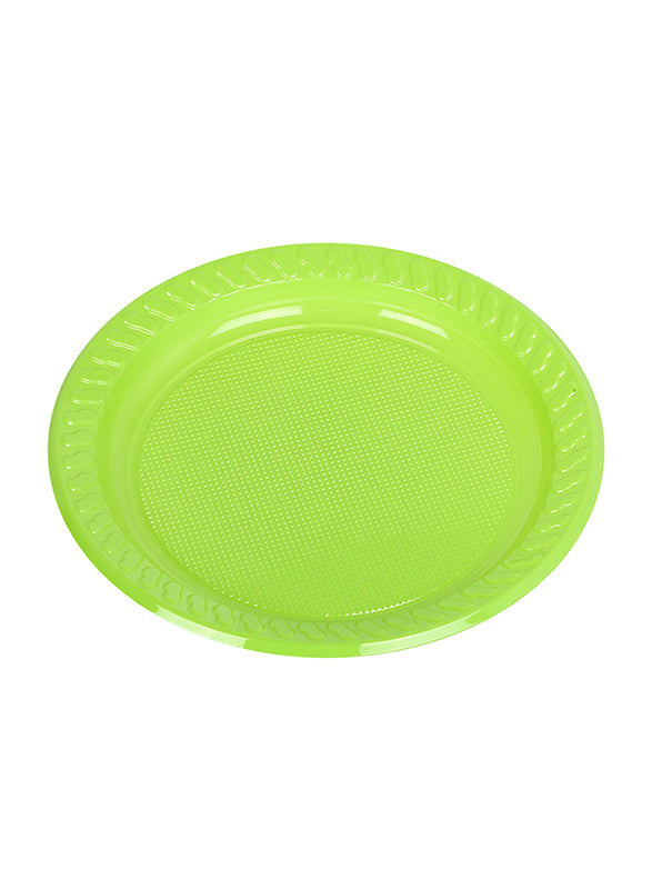 "Round Colored Plastic Plate 7"" (25 Pieces)"