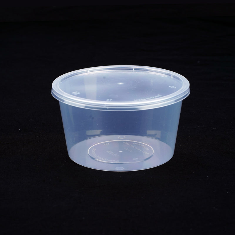 Round Microwavable Container 400 ML with LID