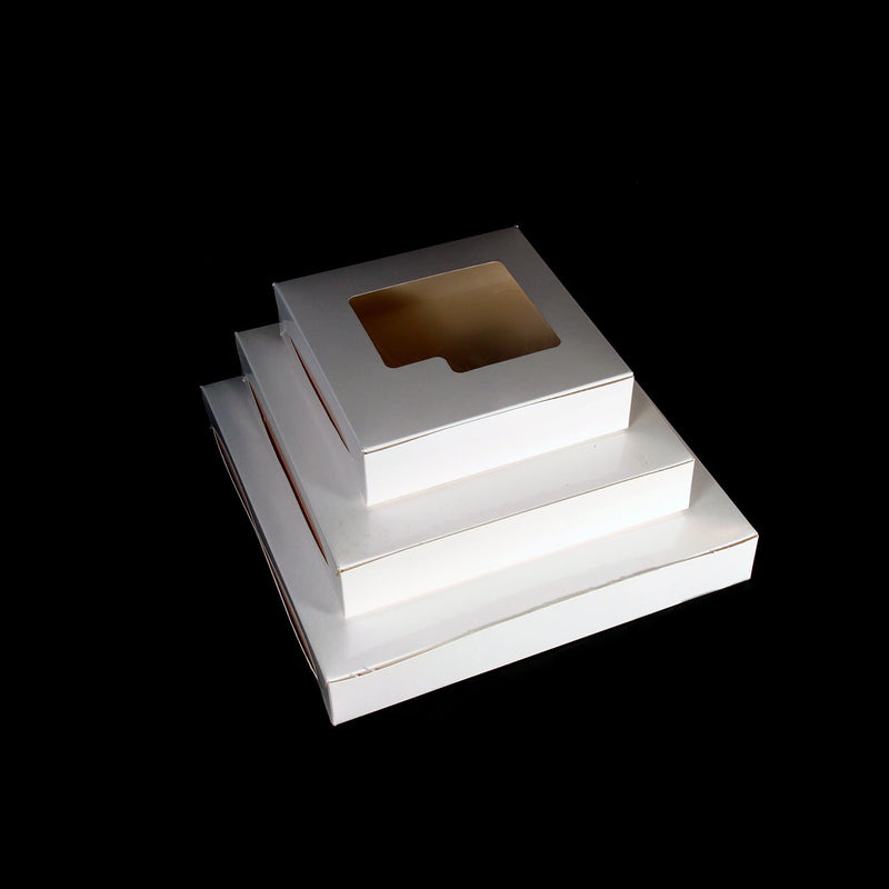 Sweet Box White with Window 15cm X 15cm